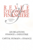 couverture de Les relations finance et industrie
